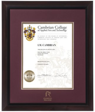 Cambrian Diploma Frames Online Store